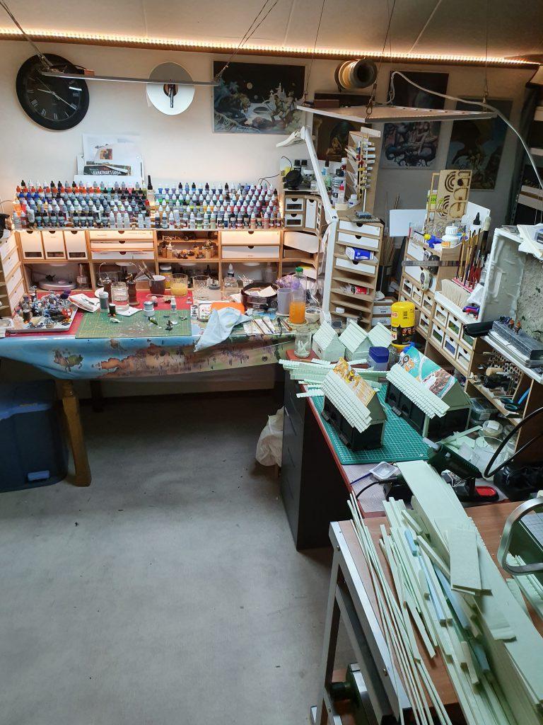 Werktafels - bouw en schilder gedeelte